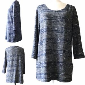 Alfred Sung Long Sleeve Tunic Sweater